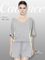 Женская пижама Bat-style Short-Sleeve Summer Integrated Fashionable Female Casual Sleepwear Skin-friendly Lounge