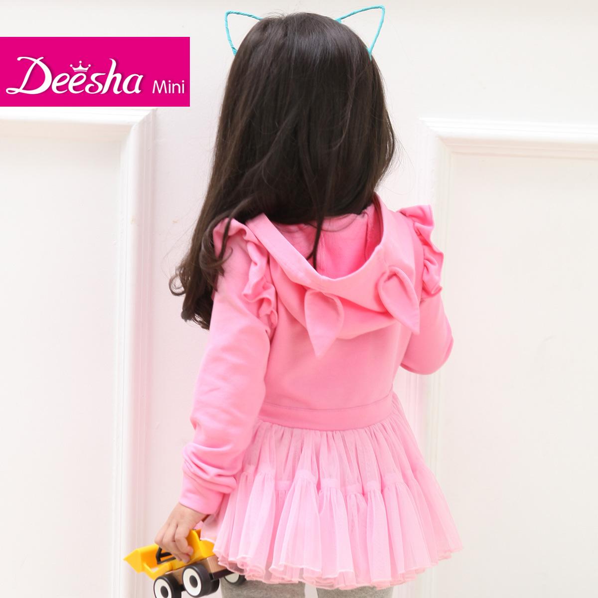 Толстовка детская Флейта Шекспира Детская одежда Весна дети длинный свитер deesha младенца ДИША Корейский куртки пальто 1422401