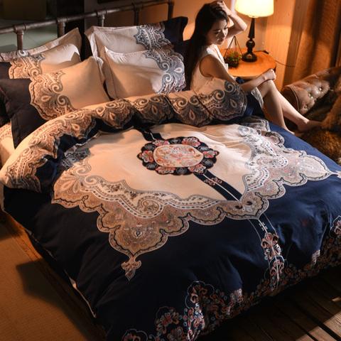 磨毛四件套纯棉加厚床上全棉床单被套1.5/1.8米2.0m双人床上用品