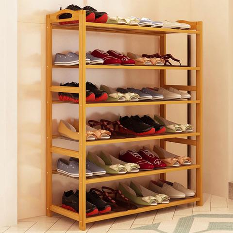 鞋架多层简易家用鞋柜特价收纳架组装现代简约防尘楠竹置物鞋架子