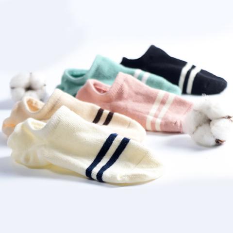 袜子女船袜女短袜秋冬款纯棉硅胶防滑浅口隐形薄款版韩国可爱10双